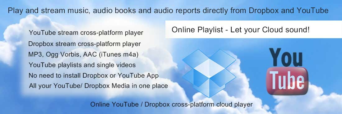 Play music, mp3, audiobooks from Dropbox