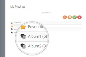 Select a playlist: click on a playlist